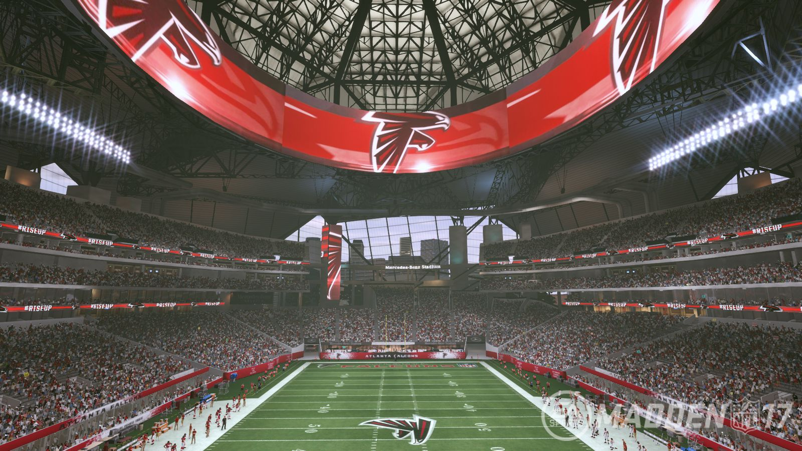 Mercedes benz stadium in madden nfl 17 the falcoholic for Mercedes benz stadium calendar