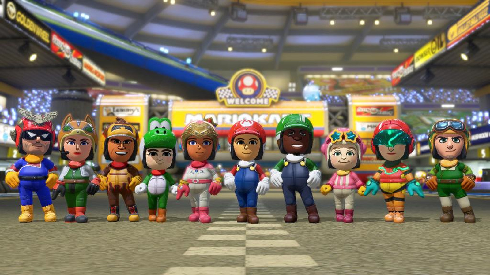 See Mario Kart 8 S Amiibo Unlocked Costumes And First Dlc