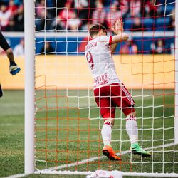 It was a frustrating day in front of goal for RBNY