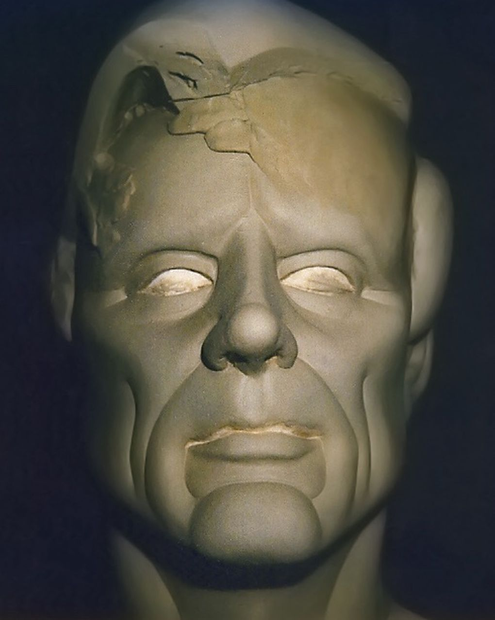 photo essay how make up and visual effects brought max headroom an early concept for the max headroom make up image courtesy of peter litten