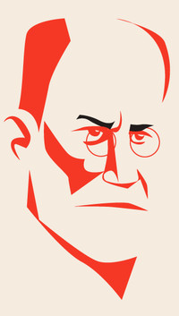 Illustration of Freud.