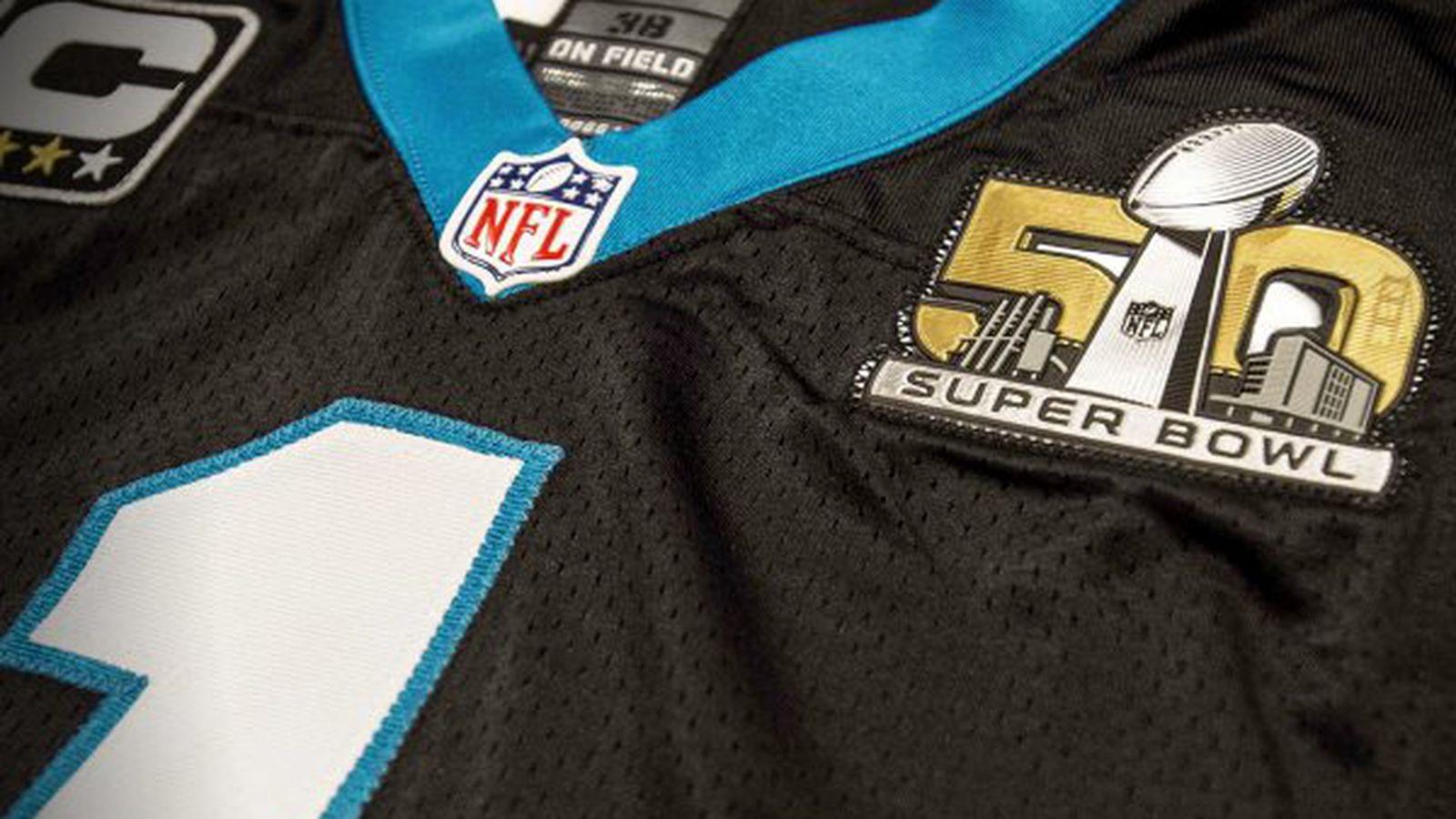 Cheap NFL Jerseys Online - Panthers unveil Super Bowl 50 jersey with patch - Cat Scratch Reader
