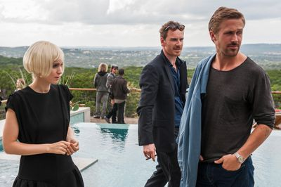 Rooney Mara, Michael Fassbender, and Ryan Gosling in Song to Song
