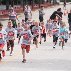 100-yard dash. September 10, 2017. Canes 5k benefitting the Carolina Hurricanes Kids 'N Community Foundation, PNC Arena, Raleigh, NC