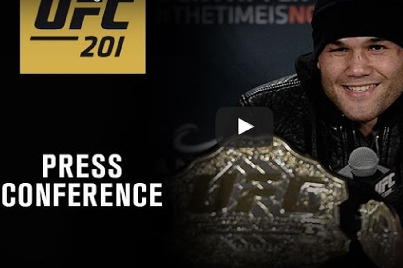 UFC 201 post fight press conference video live YouTube stream