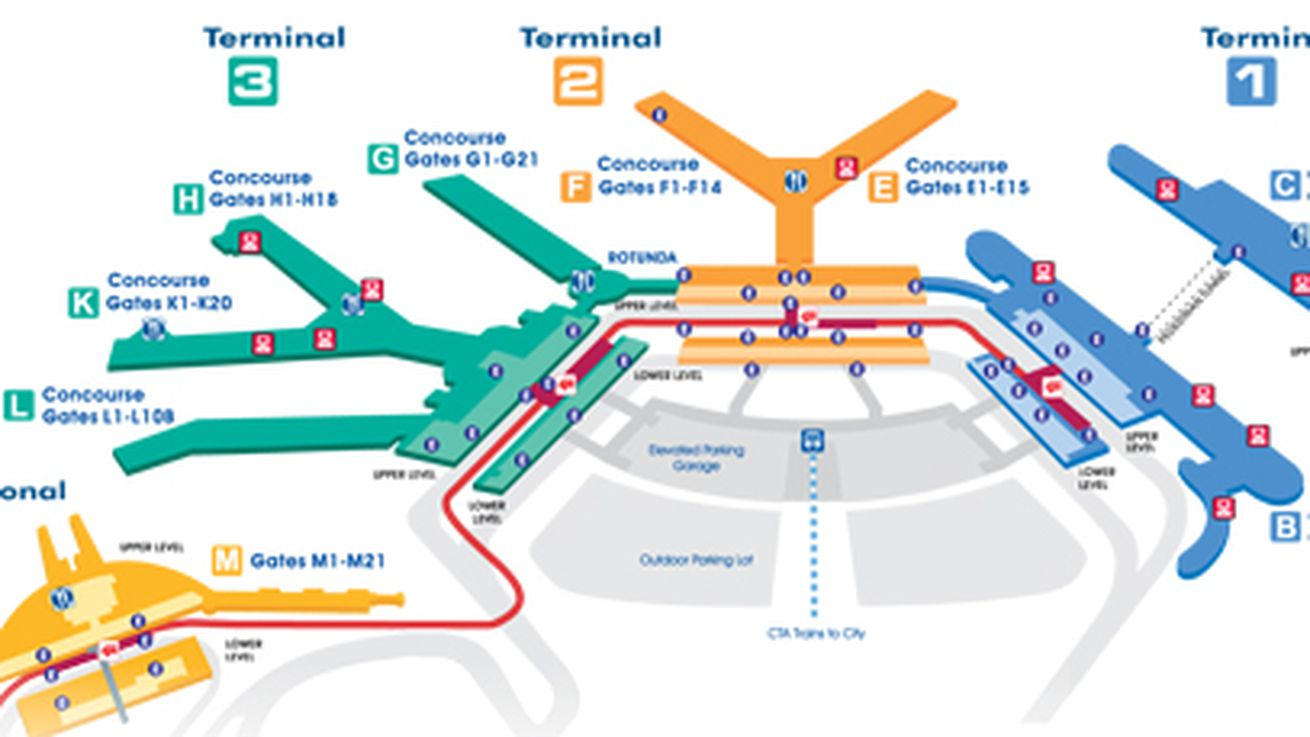 Chicago Ohare Airport Map United - Chicago map airports