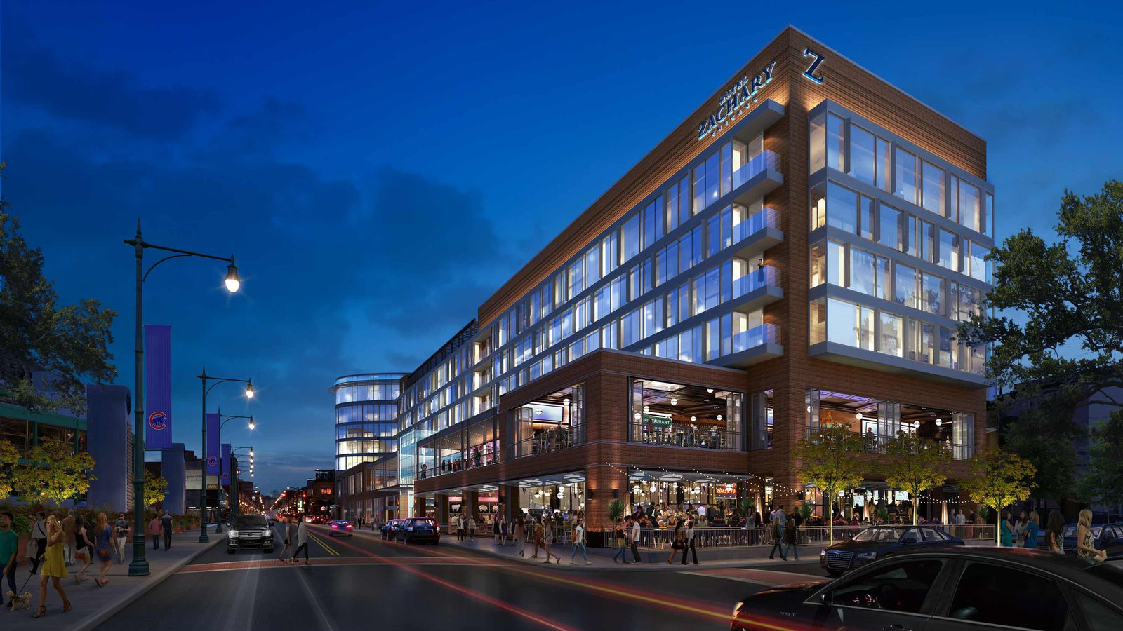 Developers reveals new name and design for wrigley field 39 s for Hotel name design