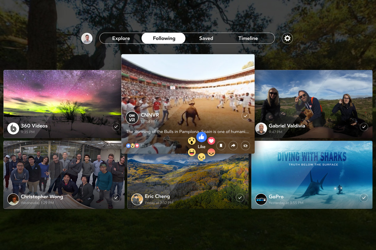 Facebook Introduces Facebook 360 for Gear VR