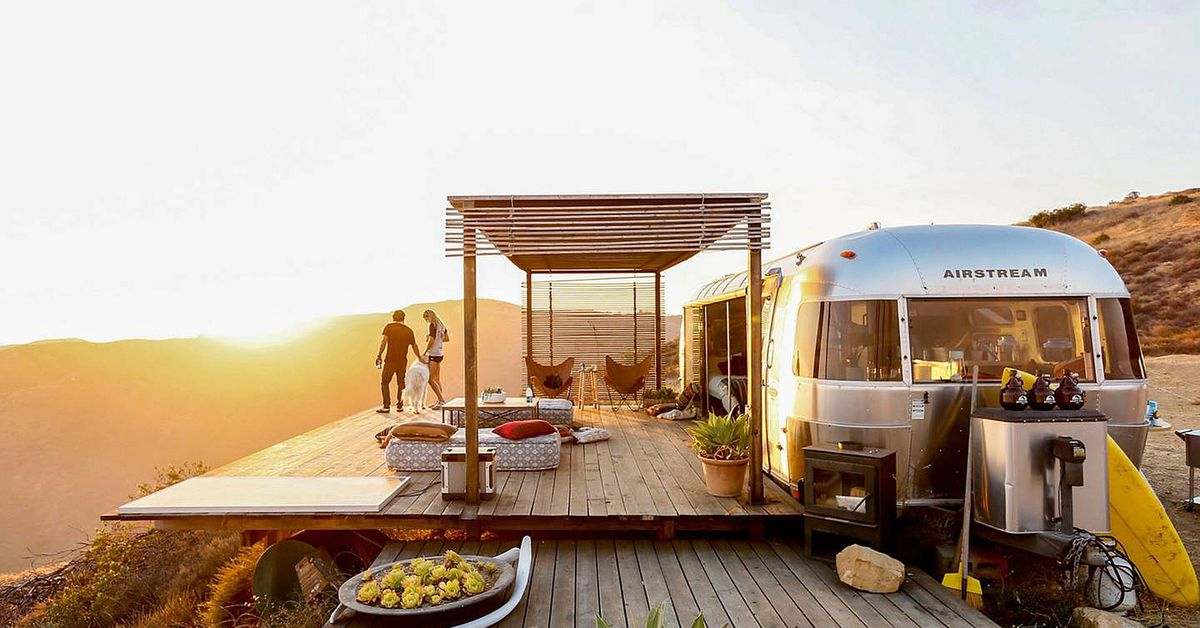This off-grid Airstream home is a Malibu dream