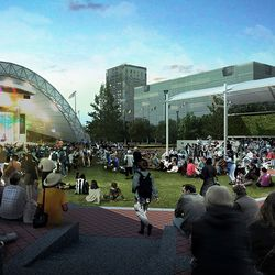 A rendering of the updated amphitheater.