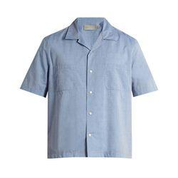 """Vince<a href=""""https://www.eastdane.com/cabana-shirt-vince/vp/v=1/1529536223.htm?colorId=10791"""">Cabana Shirt,</a>$105"""