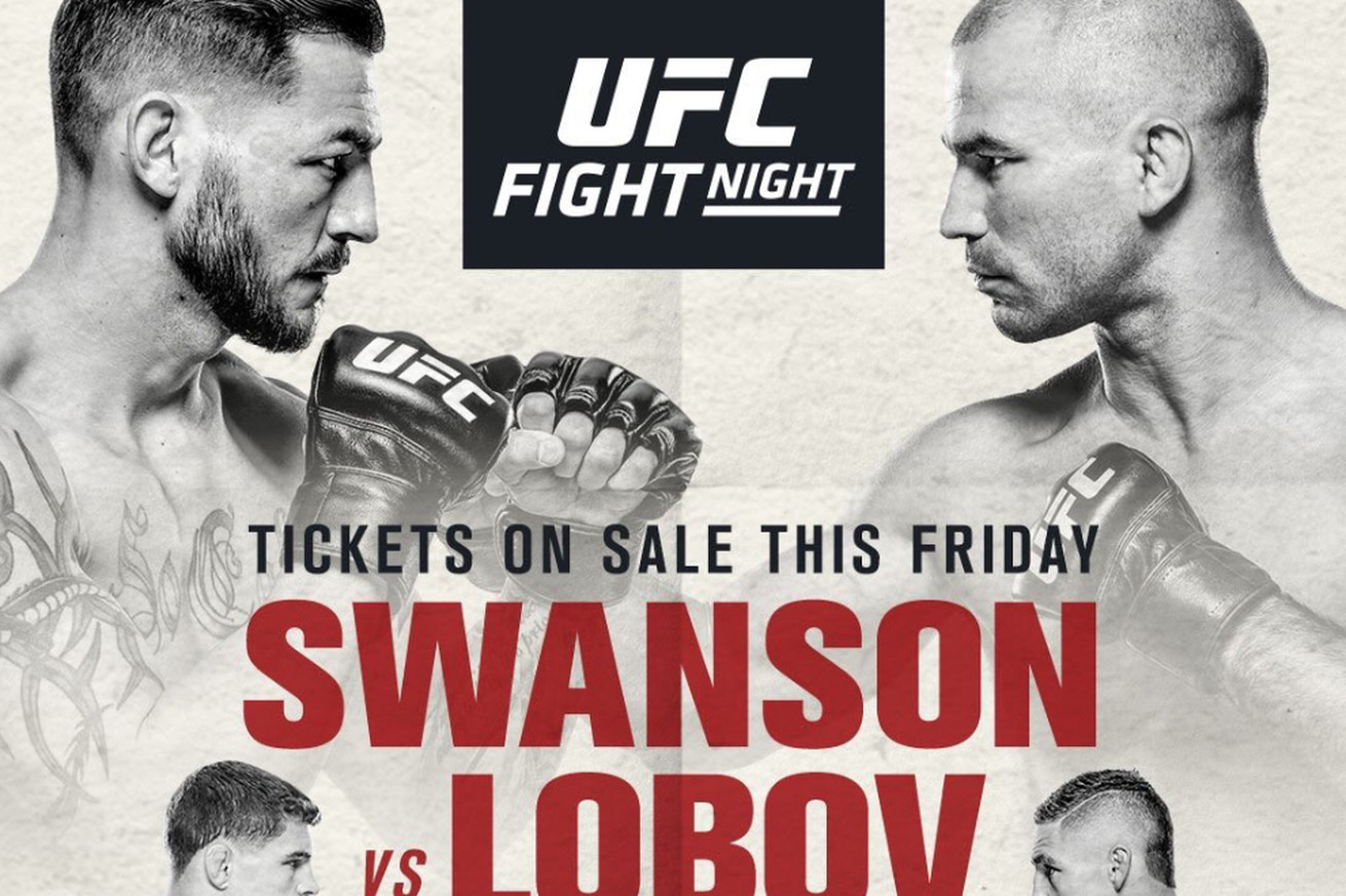 community news, Pic: UFC Fight Night 108 poster first look confirms 'Swanson vs Lobov' remains 'Nashville' main event