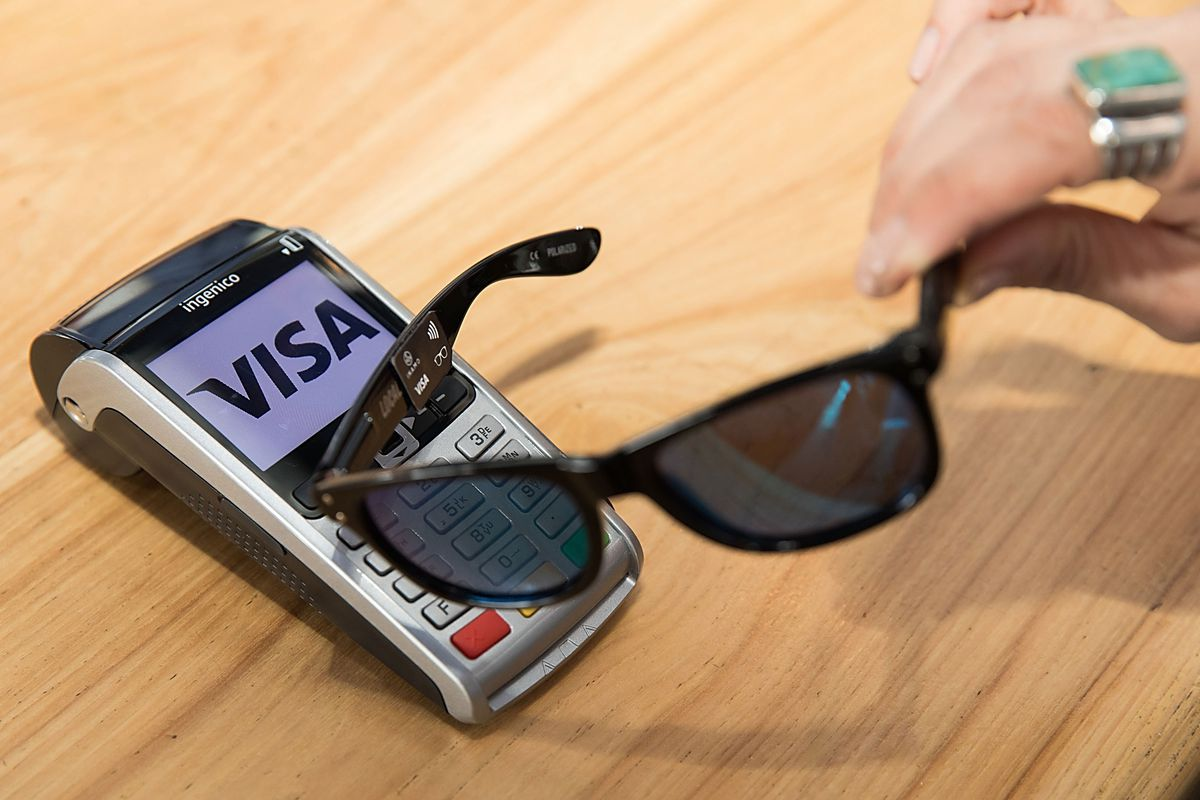 Visa developing sunglasses you can use to pay for stuff