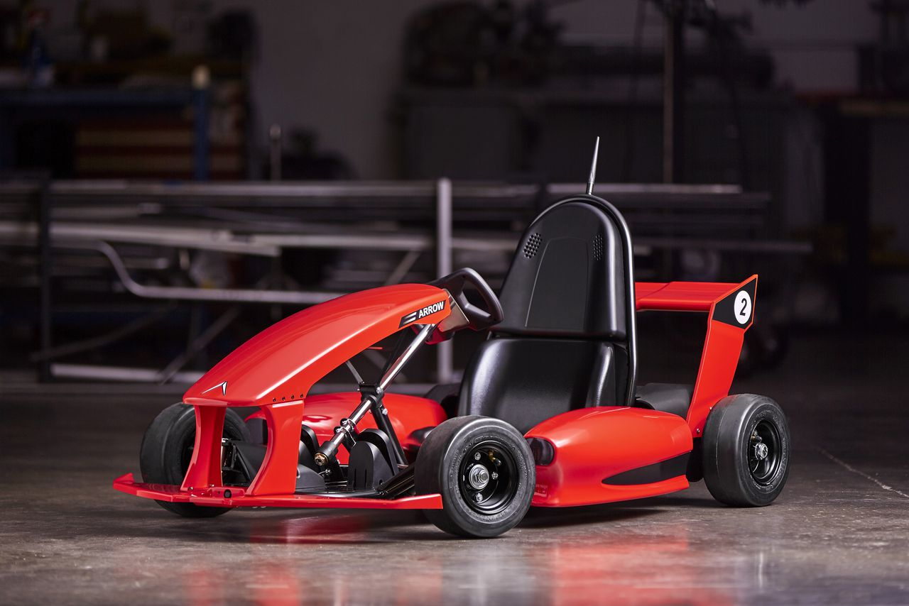 This 599 smart go kart can literally do donuts around for Motor kits for kids