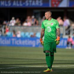 David Bingham in goal for the MLS All Stars.