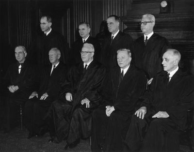The Supreme Court in 1962, the height of the defendant-friendly era presided over by Chief Justice Earl Warren.