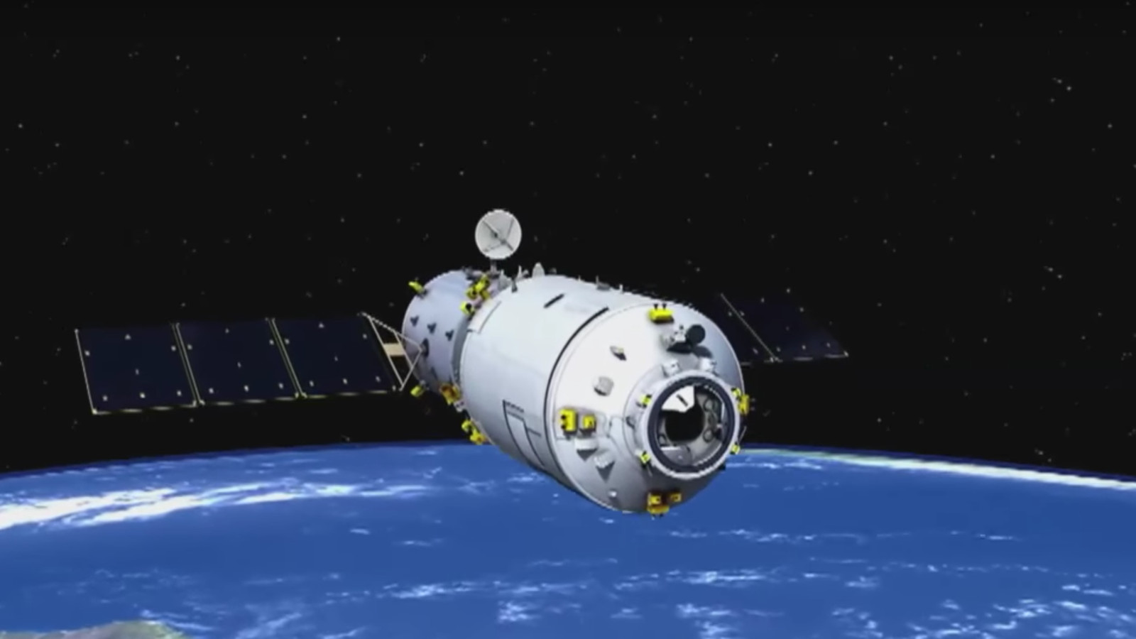 China's first automated cargo spaceship has docked with the Tiangong 2 space station