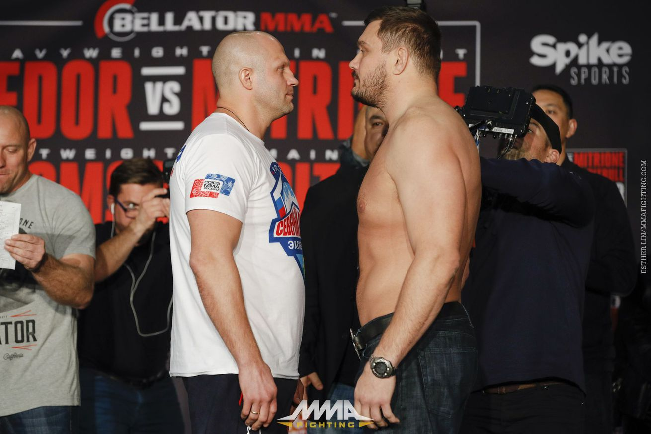 Fedor Emelianenko vs. Matt Mitrione to co headline Bellator 180 in New York