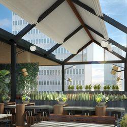 Earls Kitchen + Bar rooftop rendering