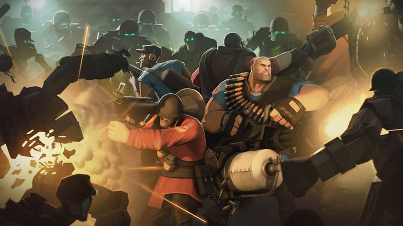 man vs machine in the work Available august 15th, 2012, mann vs machine lets you and five friends fight a lethal horde of robots on new maps, with the opportunity to upgrade abilities.