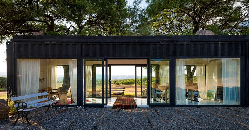 Shipping container transforms with walls of glass in argentina curbed - Shipping container homes chicago ...