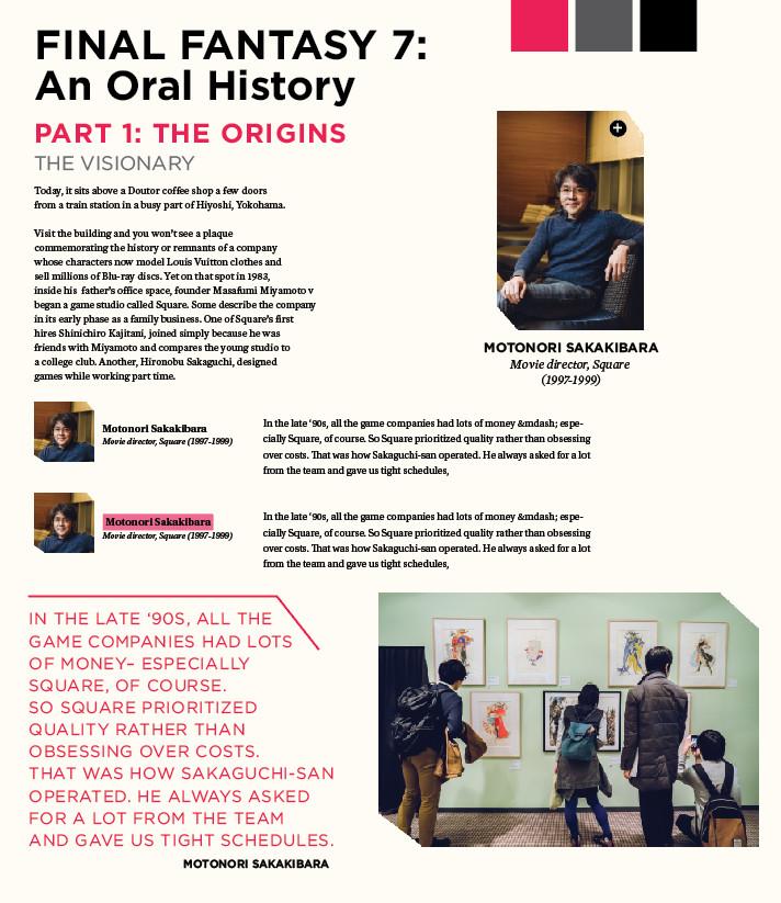 Final Fantasy 7 - An Oral History [Polygon] - Page 4 - NeoGAF