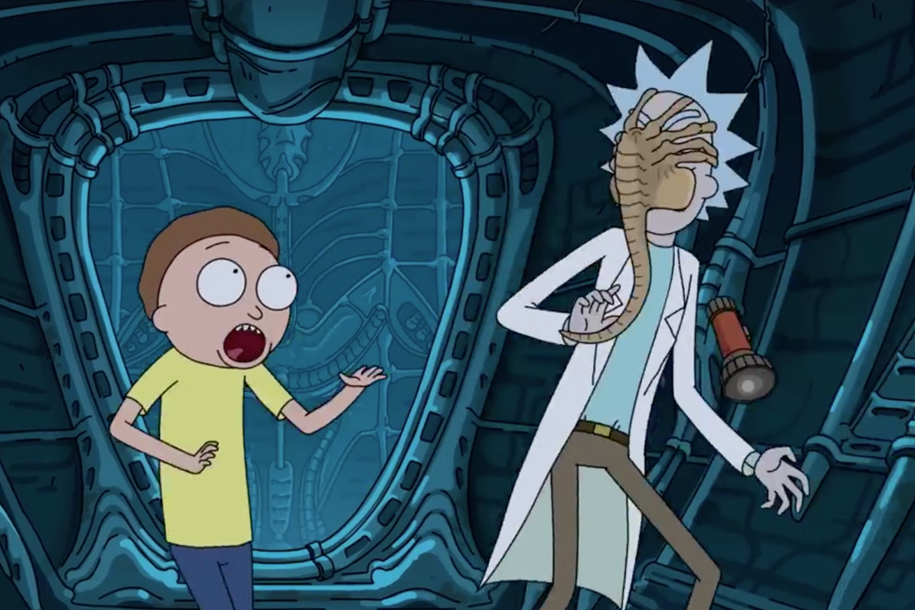 Watch Rick & Morty cross over with Alien