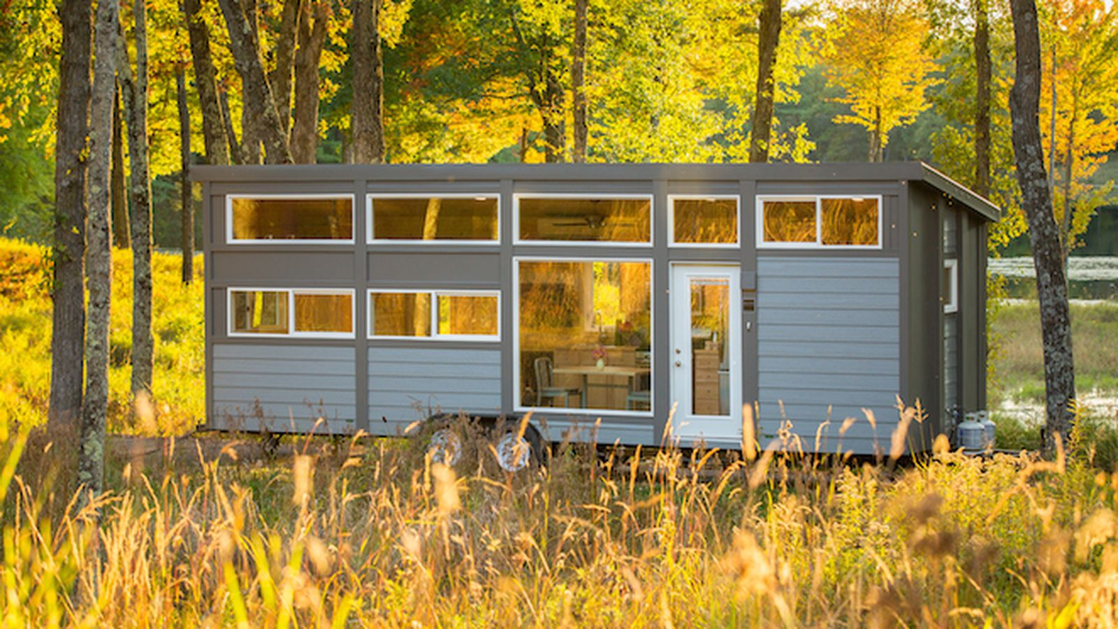 Groovy new tiny house with full size appliances can sleep for 8 by 16 tiny house