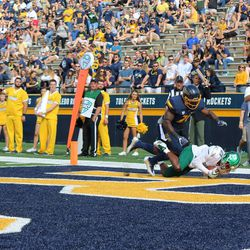 Antoine Porter finds the endzone.<br>