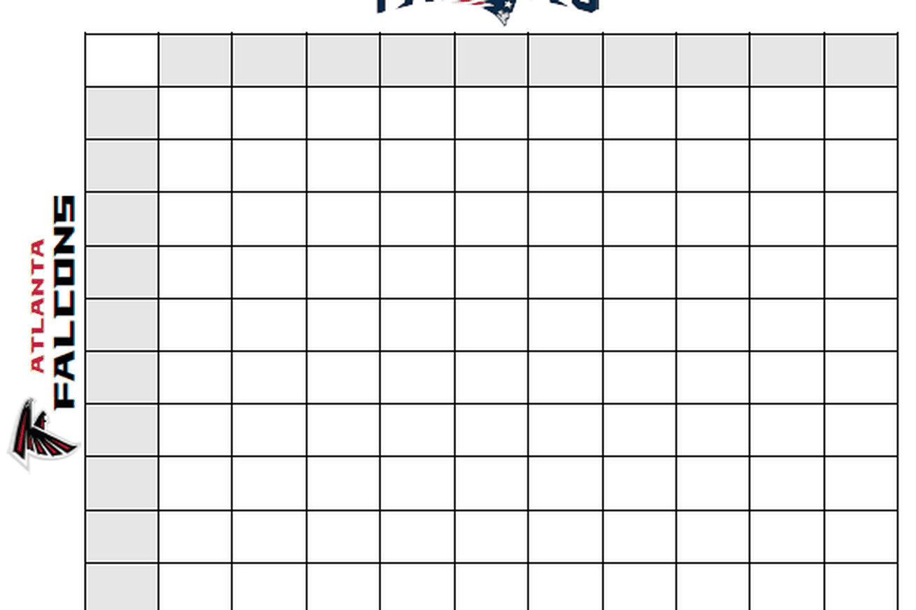 It is a graphic of Gutsy Football Squares Printable