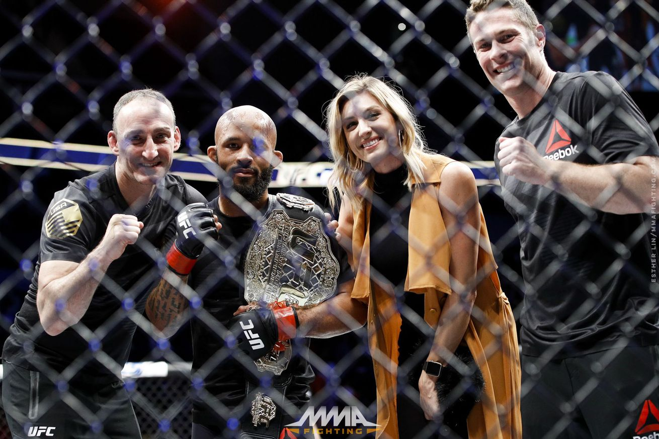 Demetrious Johnson finally starts his UFC belt collection: 'I'm taking this motherf***er home'