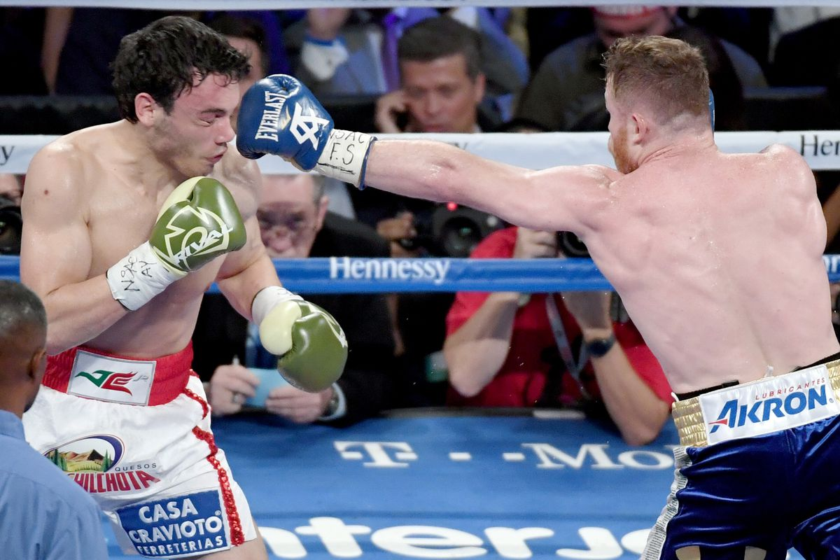 Canelo dominates Chavez in one-sided bout as Golovkin watches on