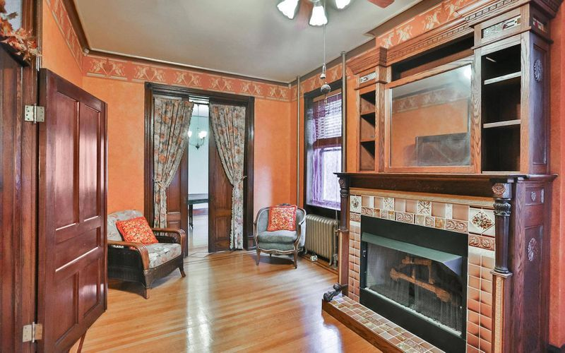 restored $250k germantown victorian has addams family vibes