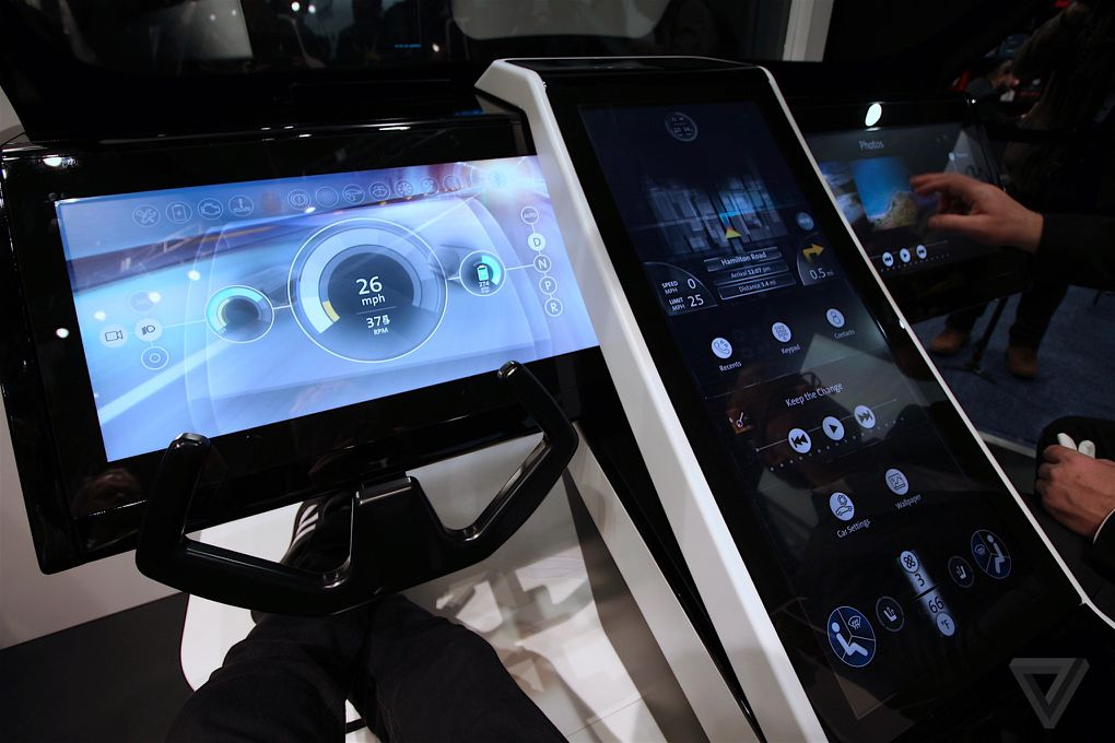 If Corning has its way, this is what the interior of the cars of the future will look like. Credit: The Verge