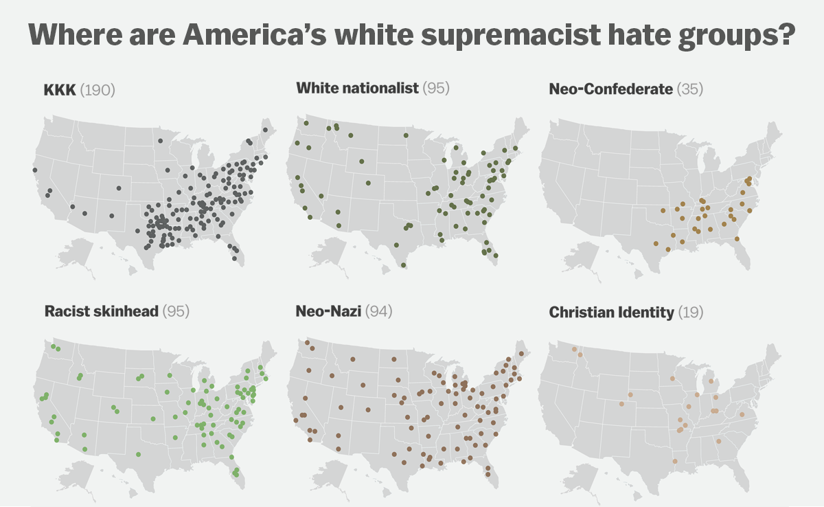 Most of Americas hate groups are rooted in white supremacy Vox