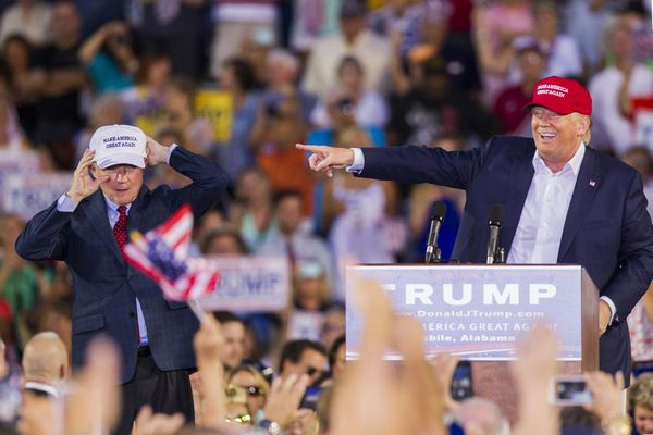 Trump introduced his buddy Sen. Jeff Sessions (R-AL) in Mobile all the way back in August; Sessions has now endorsed Trump.