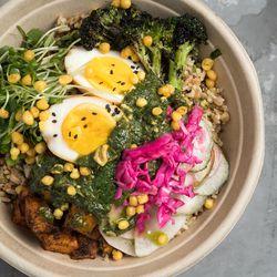 A Num Pang grain + rice bowl