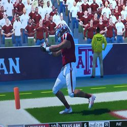 This play was reviewed. I have some thoughts about the replay officials in this virtual world.