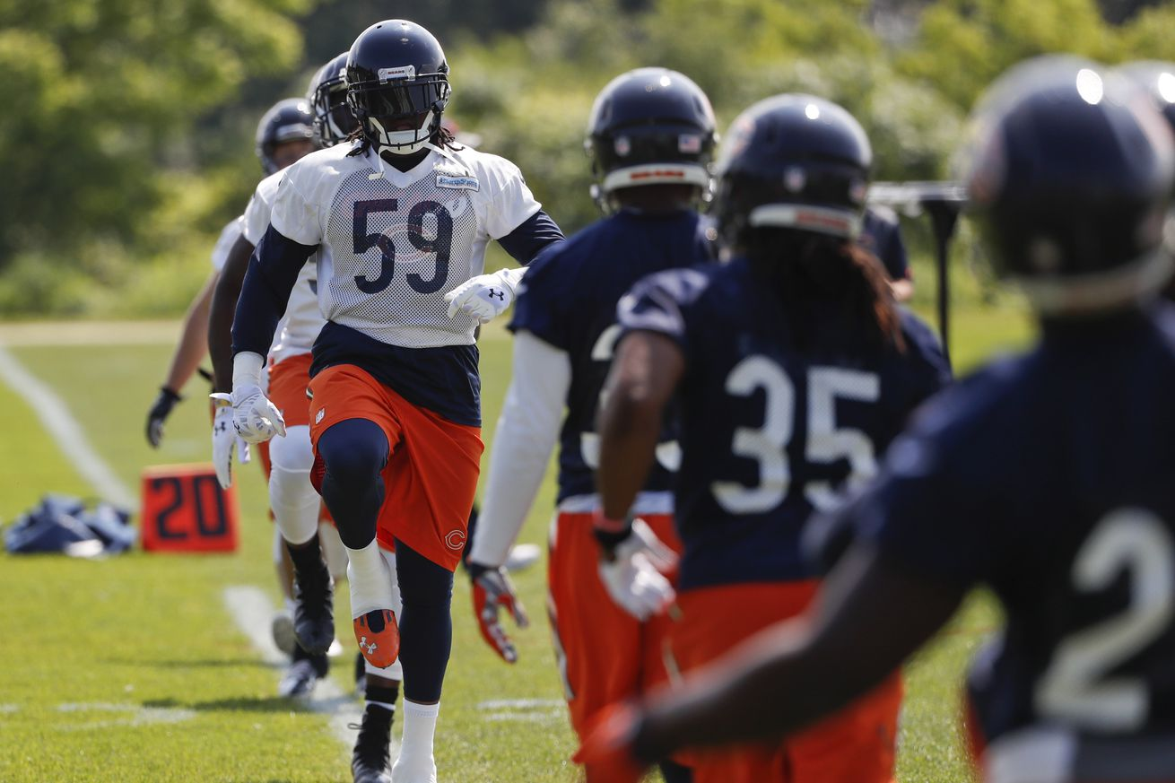 Nike NFL Mens Jerseys - Danny Trevathan dominates in first Bears practice with pads ...