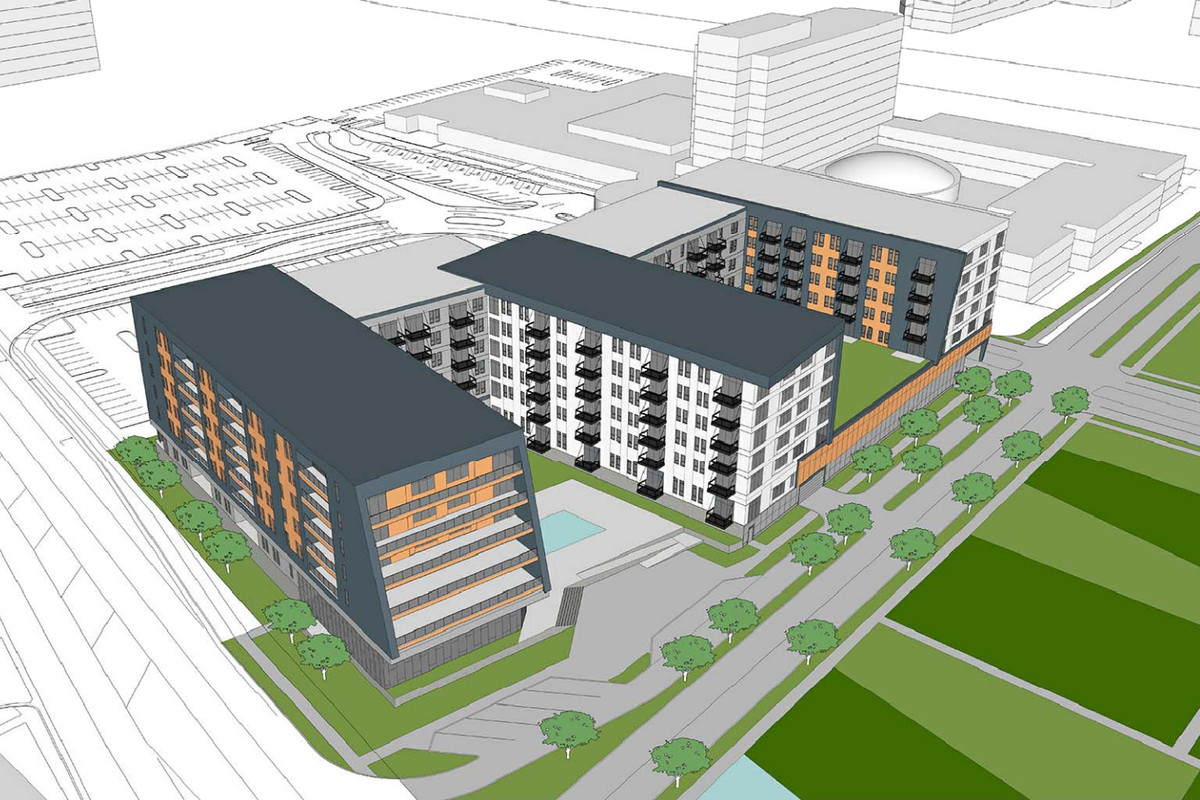 299 Unit Apartment Plan Pitched For Parking Lot Near