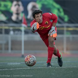 Stanford alum Andrew Epstein, in goal for SF City FC.