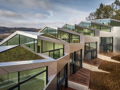 Sleek multi-family housing complex unfolds in Luxembourg