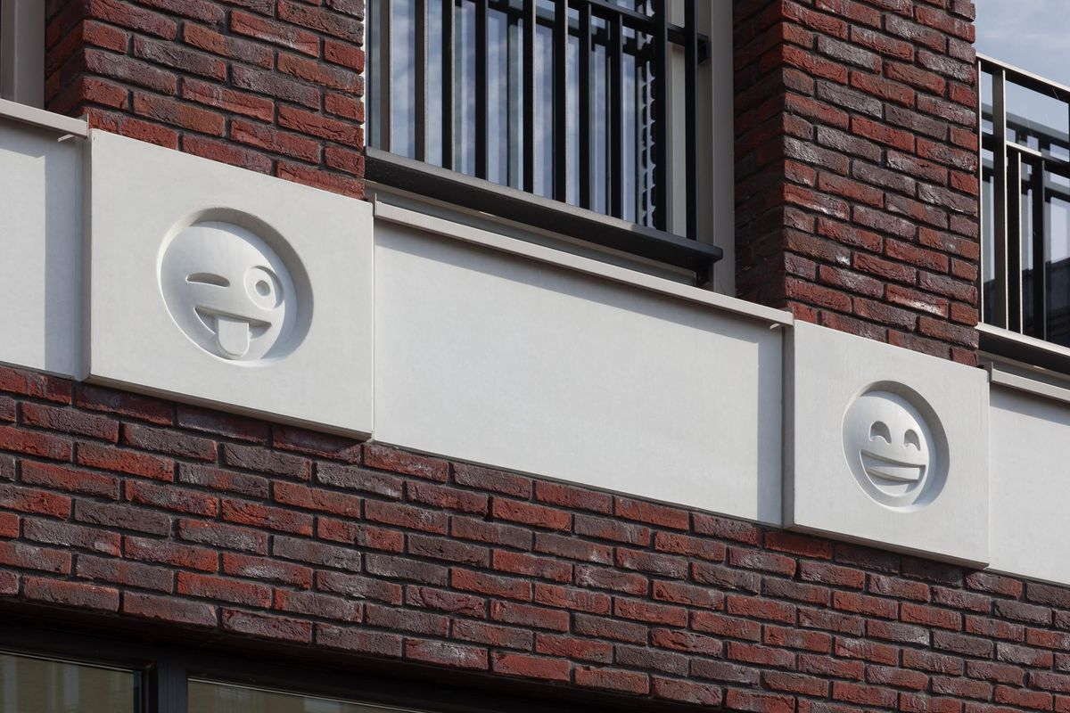 Dutch architect designs 'emoji gargoyles' to brighten up buildings