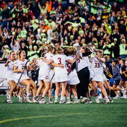 BC celebrates the win
