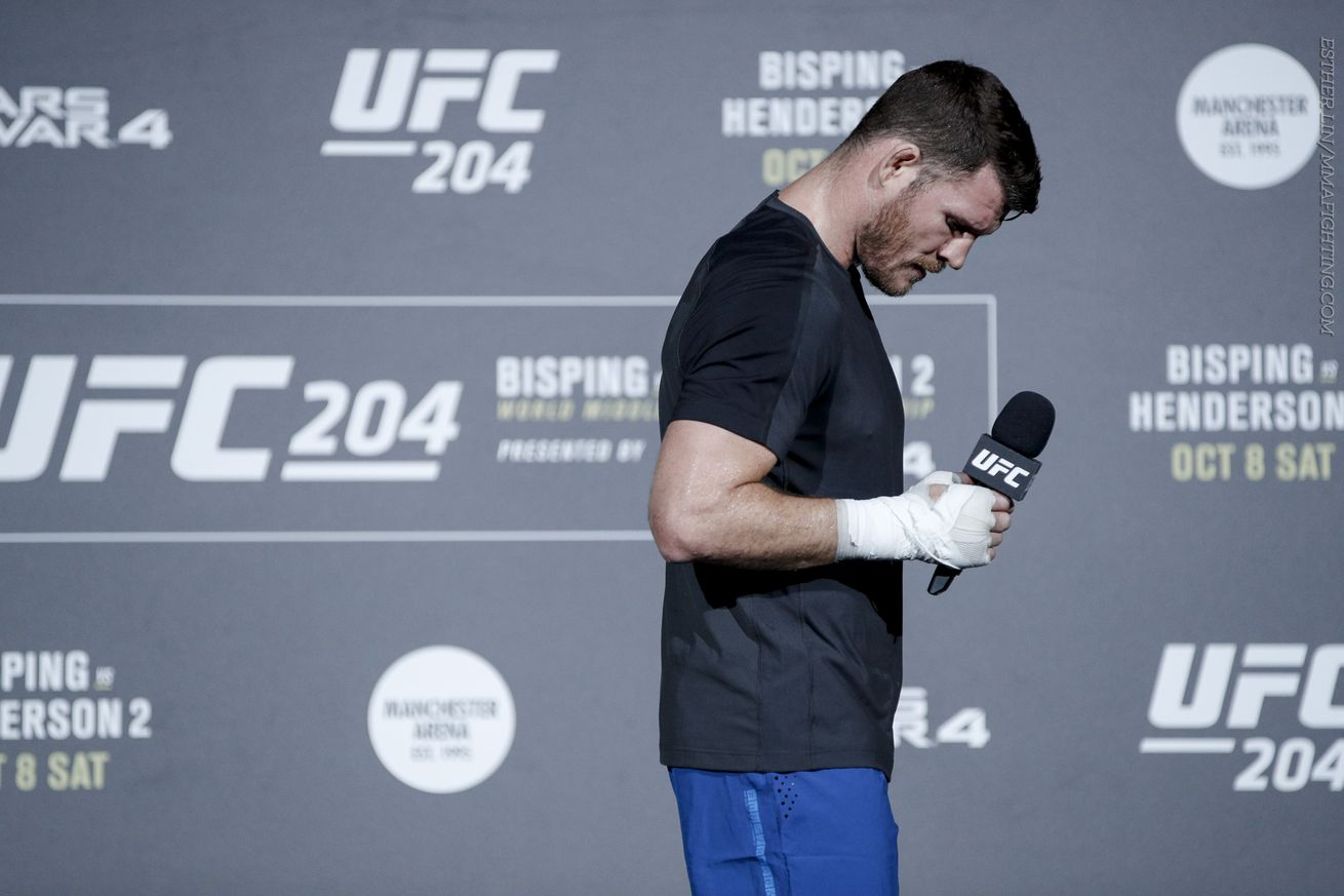 Morning Report: Michael Bisping says fight with Georges St Pierre probably not happening, expects interim title fight soon