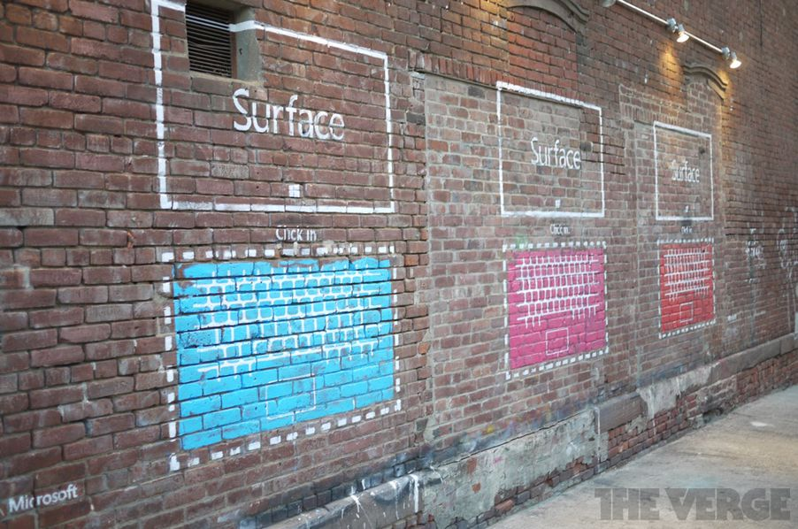 Microsoft Surface Street Art Ads Appear In New York The