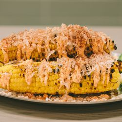 Num Pang's grilled corn with coconut and lime