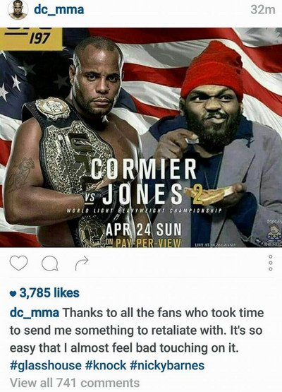 Cormier Instagram post
