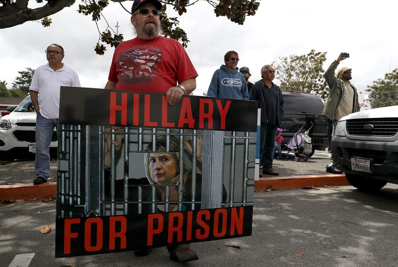 Hillary Clinton Campaigns In Salinas, California
