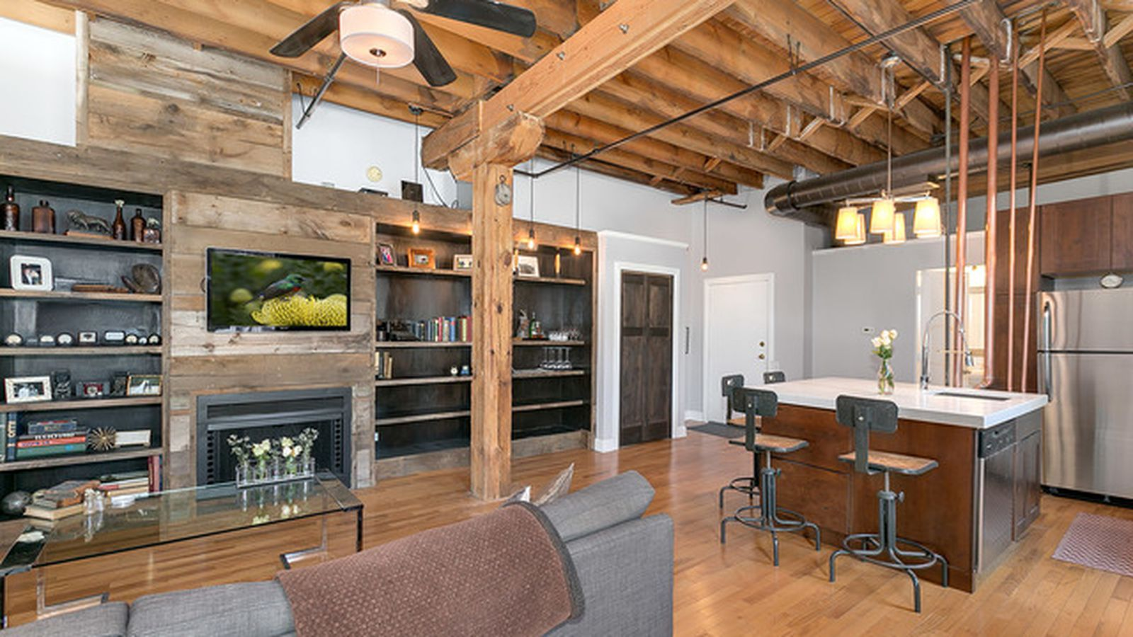 Own This Rustic One Bedroom Timber Loft In River West For